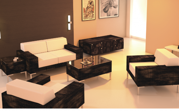 Универсальный комплект мягкой мебели из ротанга 1150