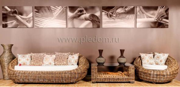Комплект мягкой мебели Киви из ротанга 1146