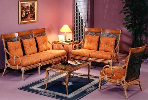 Мягкая мебель Калифорния из ротанга SET9