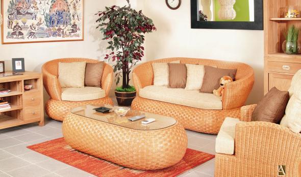 Мягкая мебель Изящество из ротанга SET18