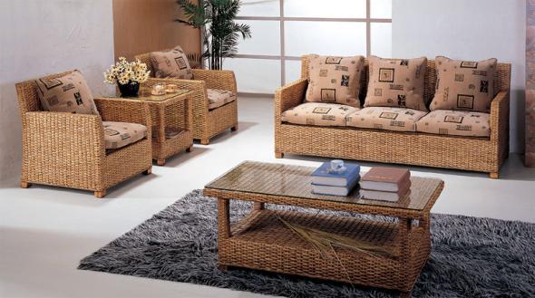 Мягкая мебель Фламинго из ротанга SET28