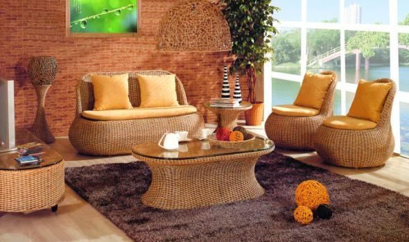 Мягкая мебель Юнона из ротанга SET37