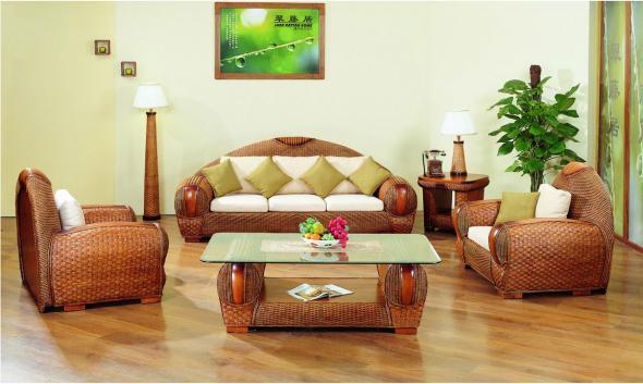 Мягкая мебель Сирень из ротанга SET46