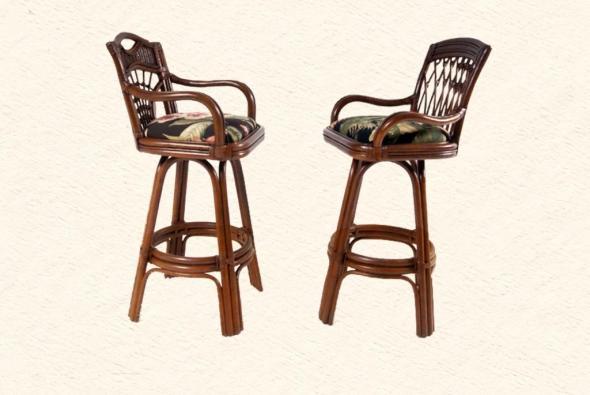 Барный стул Аполлон из ротанга B21