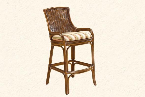 Барный стул Гермес из ротанга B22