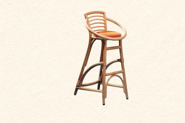 Барный стул Дионис из ротанга B23