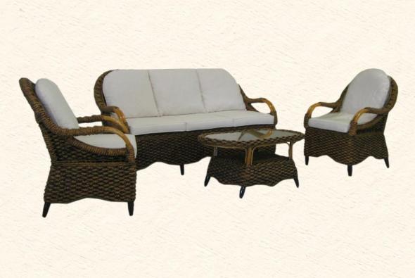 Мягкая мебель Августа из ротанга SET50