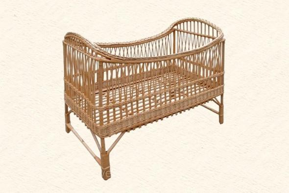 Плетеная детская кроватка Аника из ротанга A1