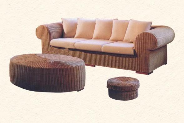 Мягкая мебель Сан из ротанга SET56