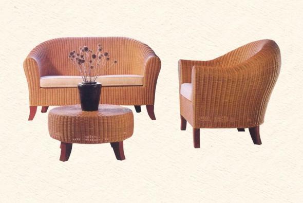 Мягкая мебель Клеопатра из ротанга SET57