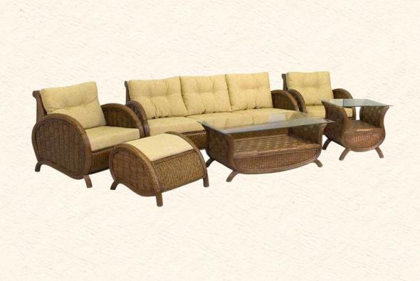 Мягкая мебель Гамбит из ротанга SET61