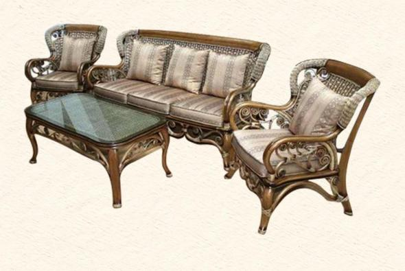 Мягкая мебель Бродвей из ротанга SET70