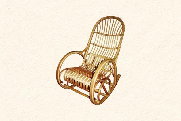 Кресло-качалка Олигарх из ротанга ARS2