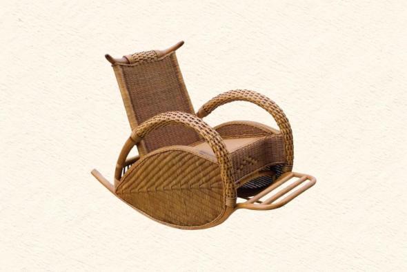 Кресло-качалка Тюдор из ротанга ARS11