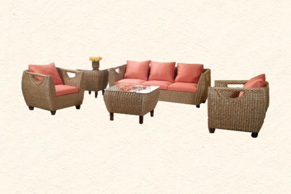 Мягкая мебель Зевс из ротанга SET77