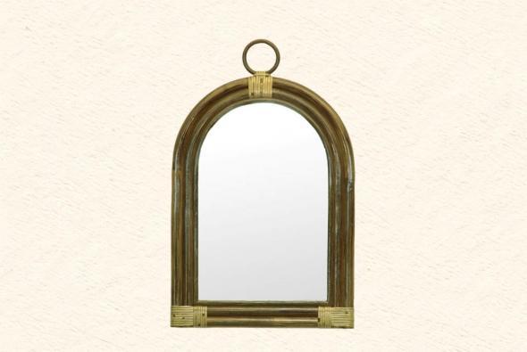 Зеркало Парос из ротанга Z2
