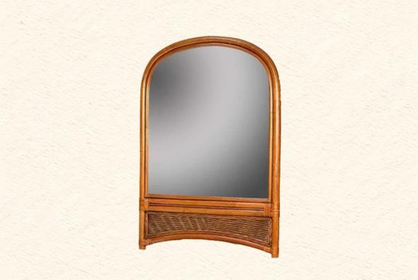 Зеркало Родос из ротанга Z3