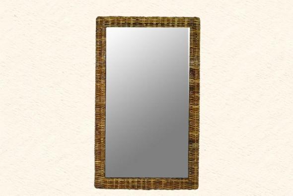 Зеркало Спарта из ротанга Z6