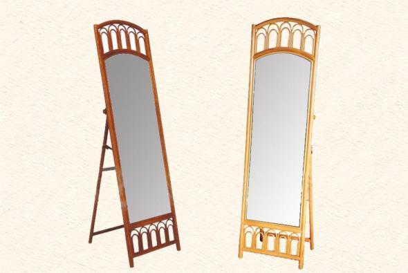 Зеркало Ларисса из ротанга Z5