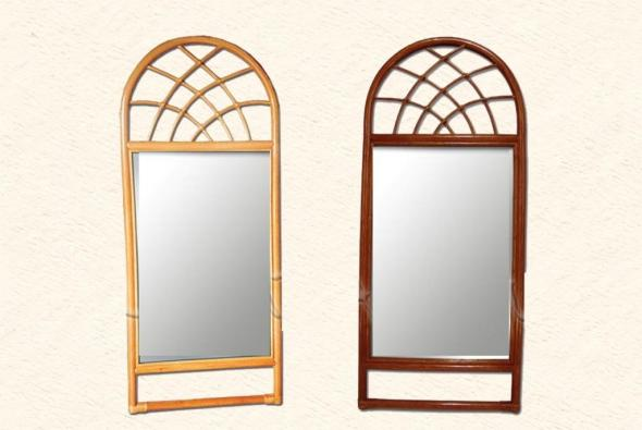 Зеркало Триполи из ротанга Z4
