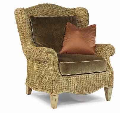 Кресло из ротанга с подушкой Арсенал из ротанга ARS48