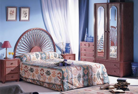 Спальный гарнитур Ливия из ротанга BDS42