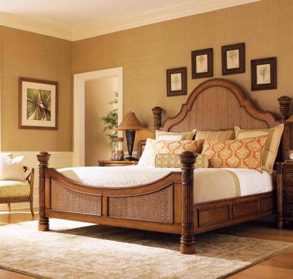 Кровать Прага из ротанга BDS66