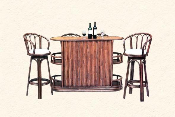 Барный стул Аристократ из ротанга B24