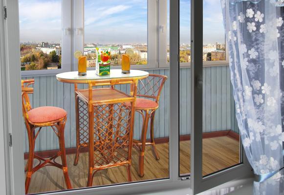 ланч-группа для балкона и лоджии из ротанга