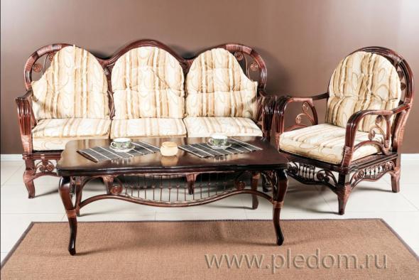 Мягкая мебель Валенсия из ротанга SET43