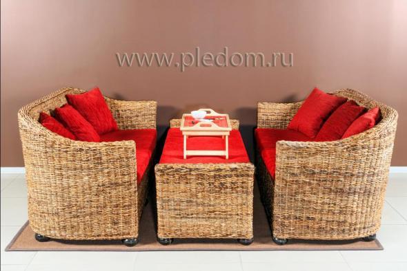 Мягкая мебель Аврора из ротанга SET52