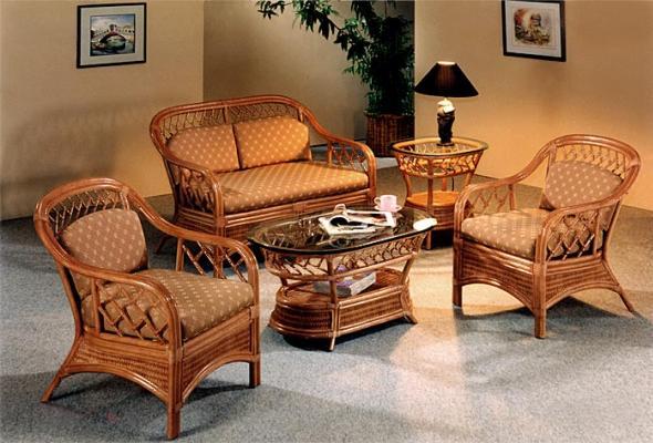 плетеная мебель для дома в интерьере